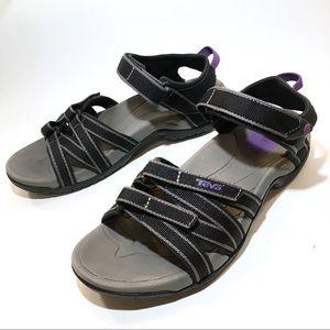 Teva TIRRA Sandals Black / Gray Size 7